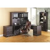 "Realspace Outlet Magellan Performance 71""W L-Shaped Desk, Espresso"