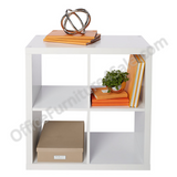 Brenton Studio Outlet Veneer 4-Cube Bookcase, White