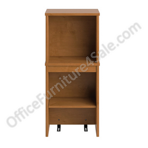 "Bush Outlet Envoy Narrow Hutch, 36 1/4""H x 16""W x 14 1/4""D, Natural Cherry"
