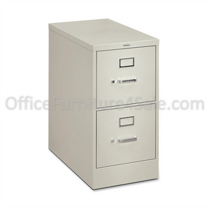 "(Scratch & Dent) HON Outlet H320 Series 26 1/2""D Vertical 2-Drawer Letter File Cabinet, Light Gray"