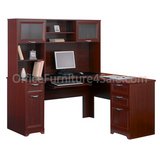 "L-Shaped Outlet Desk, 60""wide x 60""deep x 30""high, Magellan Collection, Cherry Finish, Outlet"