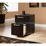 "Sauder Town Outlet Collection 2-Drawer Pedestal File, 23 1/4""H X 15 1/2""W X 18 3/4""D, Jamocha"