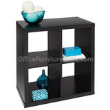 "Brenton Studio Outlet Cube Bookcase, 4-Cube, Small, 27 5 1/16""H x 27 3/8""W x 14 7/8""D, Black"