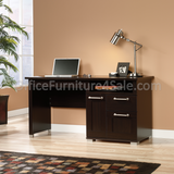 "Sauder Town Outlet Collection Desk 30""H x 60""W x 20 3/4""D, Jamocha"
