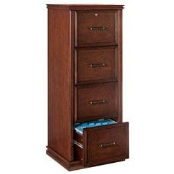 (Scratch & Dent) Realspace Outlet Premium Wood File, 4 Drawers, 55 2/5''H x 21''W x 18 9/10''D, Dark Cherry