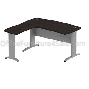 "BBF Sector 60"" x 60"" Curved L-Desk, 30""H x 60""W x 58 11/16""D, Mocha Cherry"