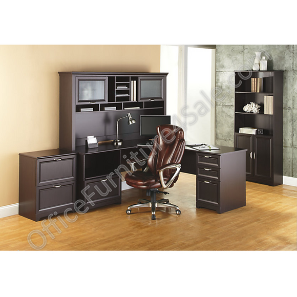(Scratch & Dent) Realspace Magellan Performance Outlet Collection L Desk and Hutch, 70 1/2