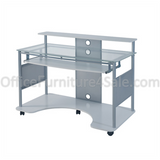 "Z-Line Designs Outlet Mobile Workstation Desk, 36""H x 48""W x 26""D, White"