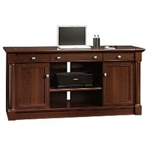 "(Scratch & Dent) Sauder Palladia Collection Credenza With Slide-Out Desktop, 29 3/5""H x 62""W x 22""D, Select Cherry"