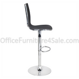 Lumisource Outlet Danata Bar Stool, Black/Silver