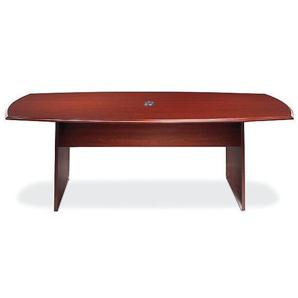 (Scratch & Dent) Realspace Outlet Broadstreet 8 Foot Conference Table, Boat-Shaped, Cherry