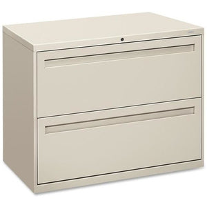 "(Scratch & Dent) HON Brigade Outlet 700 Series Lateral File, 2 Drawers, 28 3/8""H x 36""W x 19 1/4"", Putty"