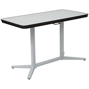 "Office Star Outlet Pro-Line II Pneumatic Height Adjustable Table, Rectangle, 27"" x 47 1/4"" x 23 1/2"", White"