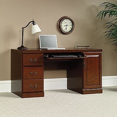 (Scratch & Dent) Sauder Heritage Hill Computer Credenza With Laptop Drawer And Power Strip, 30 1/8