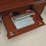 "(Scratch & Dent) Sauder Heritage Hill Computer Credenza With Laptop Drawer And Power Strip, 30 1/8""H x 59 1/8""W x 20 1/2""D, Classic Cherry"