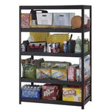 "(Scratch & Dent) Edsal Heavy-Duty Steel Shelving, 5 Shelves, 72""H x 48""W x 24""D, Black, MR4824BLKLB"
