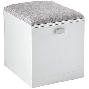 "(Scratch & Dent) See Jane Work Kate File/Seat, 18 1/2""H x 15 3/8""W x 18 1/8""D, White"