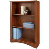"Realspace Dawson Outlet 3-Shelf Bookcase, 44""H x 30 1/2""W x 11 3/5""D, Brushed Maple"