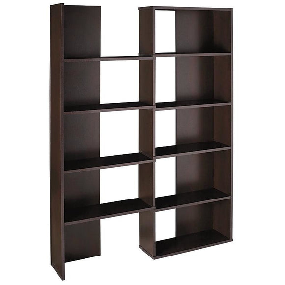 (Scratch & Dent) Realspace Outlet Cove Springs Expanding 5-Shelf Bookcase, 71 1/2