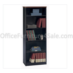 "Bush Business Furniture Office Advantage 5 Shelf Bookcase, 26""W, Hansen Cherry/Galaxy"