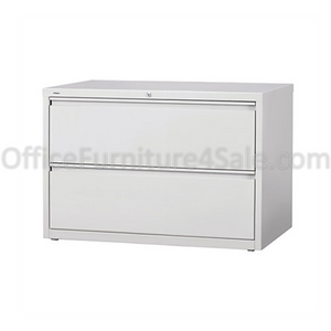 "(Scratch & Dent) WorkPro Outlet Steel Lateral File, 2-Drawer, 28""H x 42""W x 18 5/8""D, Light Gray"