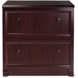 "(Scratch & Dent) Realspace Broadstreet Outlet Lateral File Cabinet, 30""H x 29 1/2""W x 19""D, Cherry"