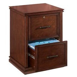 Realspace Outlet Premium File, 2 Drawers, 30''H x 21''W x 18 9/10''D, Dark Cherry
