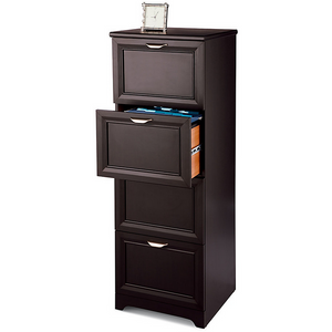 "Realspace Magellan Outlet Collection 4-Drawer Vertical File Cabinet, 54""H X 18 3/4""W X 19""D, Espresso"
