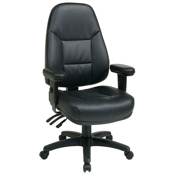 Office Star Outlet Dual-Function High-Back Leather Chair , 49