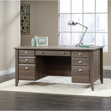 "Sauder Outlet Shoal Creek Executive Desk, 30 1/2""H x 65 1/2""W x 29 1/4""D, Diamond Ash"