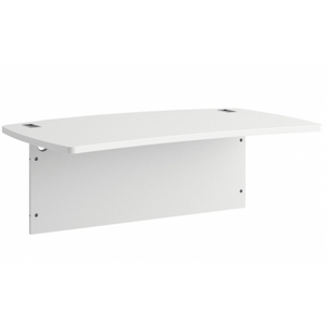 "BBF Outlet Sector Curved Work Surface 48""W x 30""D with Metal Straight Base, White"