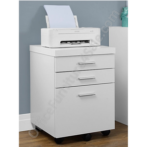 "Monarch Outlet Specialties Filing Cabinet, 3 Drawers, 26""H x 18""W x 19""D, White"