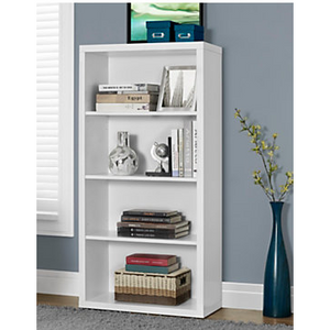 Monarch Outlet Specialties Adjustable 3 Shelf Bookcase 48H X 24W
