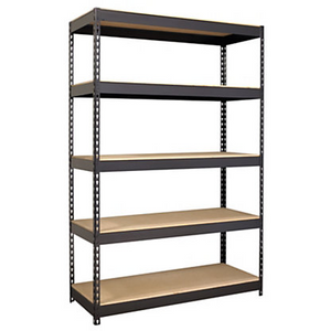 "(Scratch & Dent) Hirsh Industries Outlet Iron Horse Riveted Steel Shelving, 72""H x 48""W x 18""D, Black"