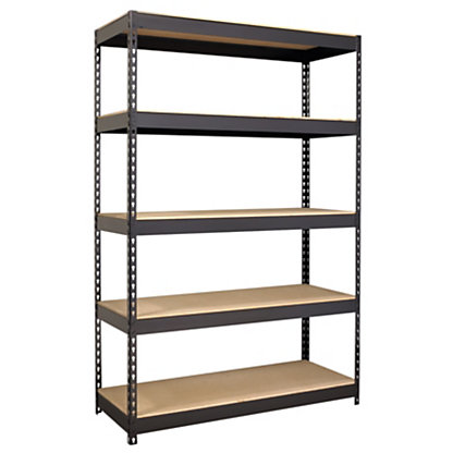 (Scratch & Dent) Hirsh Industries Outlet Iron Horse Riveted Steel Shelving, 72