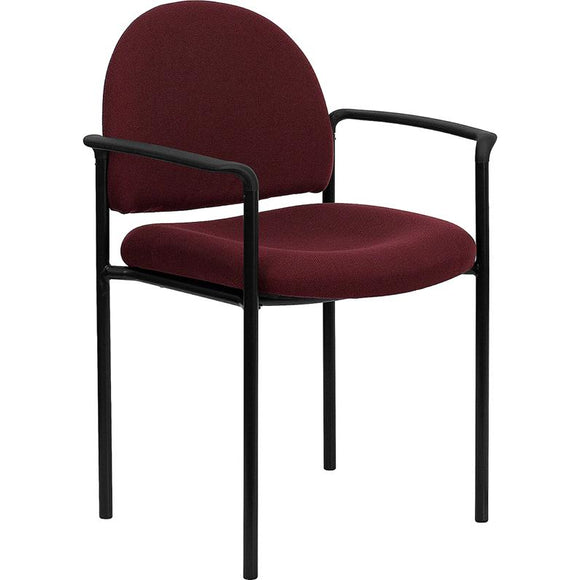 Comfortable Stack Visitor Fabric Chair with Arms 250-lb. Weight Capacity