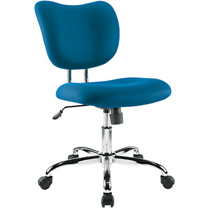 Brenton Studio Outlet Low-Back Mesh Task Chair, Blue/Chrome,  847625, 2018-2-BL