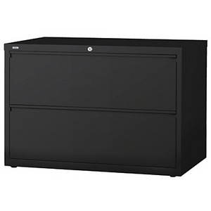 "(Scratch & Dent) WorkPro Outlet Steel Lateral File, 2-Drawer, 28""H x 42""W x 18 5/8""D, Black, 370199, HID19057"