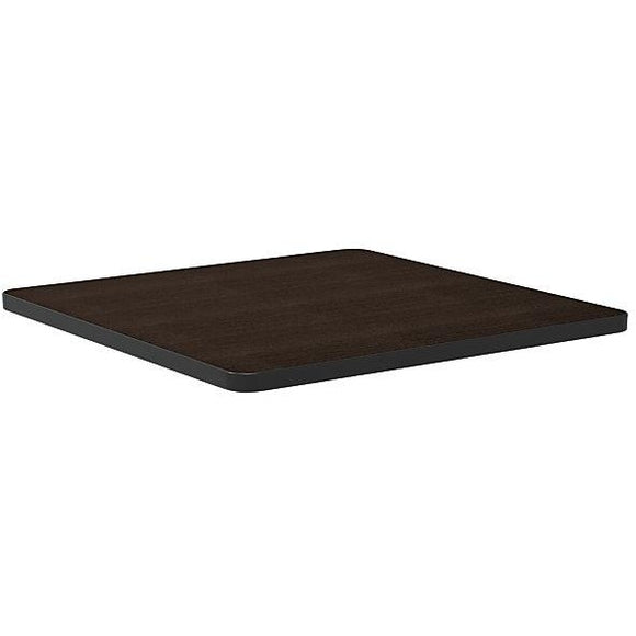 WorkPro Outlet Flex Collection Square Table Top, Espresso (Legs Sold Separately)