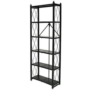 "Origami Outlet 6-Tier Book Shelf, 74 13/16""H x 16 15/16""W x 4 3/4""D, Black"