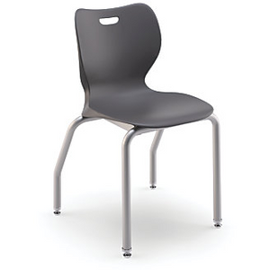 "HON SmartLink Outlet 16"" Stackable Student Chairs, 29"" x 19 1/4"" x 19 5/8"", Dark Gray"