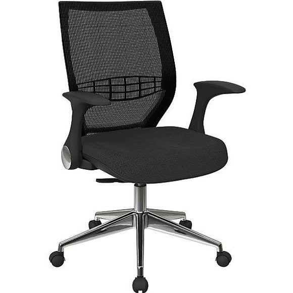 Office Star Outlet Pro-Line II ProGrid Fabric High-Back Chair, Shale/Black
