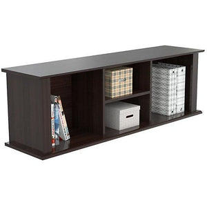 "Inval Outlet Wall Mounted Laminate Hutch, 14 9/10""H x 47""W x 11 4/5""D, Espresso-Wengue"