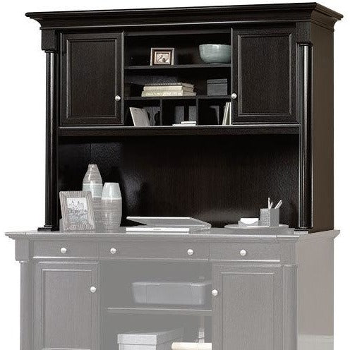 (Scratch & Dent) Sauder Outlet Palladia Collection Credenza Hutch, Wind Oak