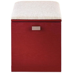 "See Jane Work Outlet Kate File/Seat, 18 1/2""H x 15 3/8""W x 18 1/8""D, Red"