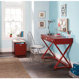 "See Jane Work Outlet Kate Writing Desk, 30""H x 47 1/2""W x 20""D, Red"