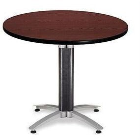 "OFM Multipurpose Table, Round, 36""W x 36""D, Mahogany"
