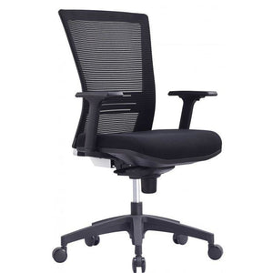 Lumary Low Back Office Chair, Mesh Back & Upholstered Seat, Black