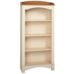 (Scratch & Dent) Christopher Lowell Shore Mini Solutions 4-Shelf Bookcase, 63 1/8''H x 29 1/2''W x 12 3/4''D, Antiqued White