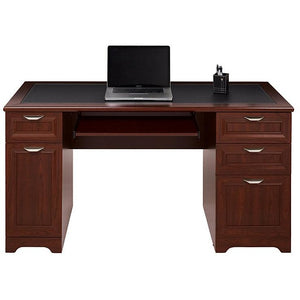 "Realspace Outlet Magellan 59""W Managers Desk, Classic Cherry"
